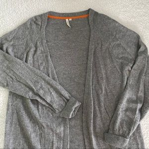 snapdragon Grey Pure Cashmere Cardigan